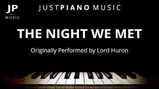Download The Night We Met (Piano Accompaniment) Lord Huron Video