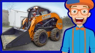 Download Construction Vehicles for Kids with Blippi | Skid Steer Video