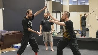 Download Two HEMA instructors comment on dual wielding swords Video