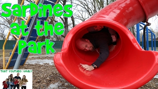 Download SARDiNES Hide And Seek At The Park! Dad Get's Stuck! / That YouTub3 Family Family Channel Video