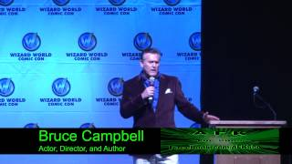Download Bruce Campbell Rips on a Girl trying to ask a Question. Super Funny! Video
