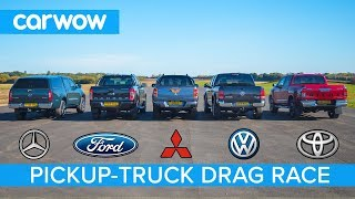 Download Mercedes X-Class vs VW Amarok vs Hilux vs Ranger vs L200 - DRAG RACE, ROLLING RACE & BRAKE TEST Video
