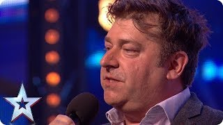 Download Nick Page wins over audience with HILARIOUS act! | Auditions | BGT 2018 Video