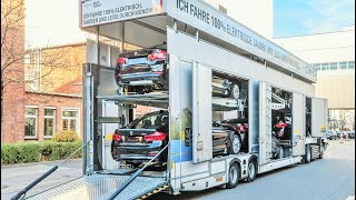 Download Electric Truck Car-Carrier for BMW Group Video