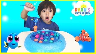 Download Disney Finding Dory Fishing Game Shell Collecting Chocolate Eggs Surprise Toys Disney Cars Go Fishin Video
