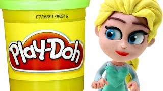 Download FROZEN Elsa Play doh STOP MOTION videos: Disney Playdough Toy Eggs Video