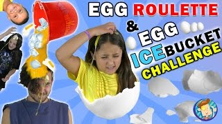 Download EGG ROULETTE CHALLENGE w/ Raw Egg Ice Bucket Dump on Dallas the Pizza Guy | FUNnel Vision Messy Kids Video