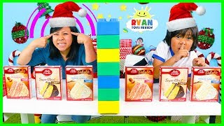 Download Twin Telepathy Cake Challenge Christmas Edition with Ryan vs Mommy! Video