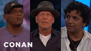 Download Samuel L. Jackson, Bruce Willis, & M. Night Shyamalan's Origin Story - CONAN on TBS Video