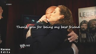 Download Triple H + Stephanie McMahon || Thank you for being my best friend Video