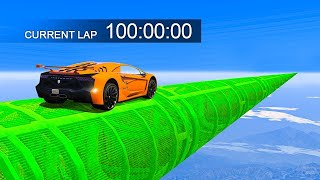 Download 100 MINUTE LONG IMPOSSIBLE STUNT RACE - GTA 5 Funny Moments Video