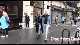 Download Gigi Hadid and Yolanda Foster stroll to IMG Models agency in New York City Video