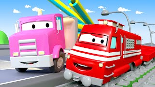 Download Flavy The Flatbed Truck - Troy The Train in Car City 🚄 l Cartoons for kids Video