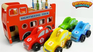 Download Learn Colors and Community Vehicles Names with fun Wooden Toy Cars! Video