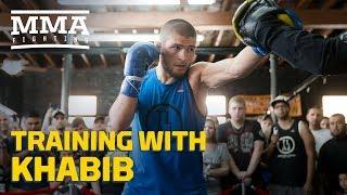 Download Training With Khabib: Teammates Talk What Makes Nurmagomedov Different - MMA Fighting Video