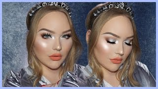 Download EASY & GLOWY Silver Holiday Glam Makeup Tutorial Video