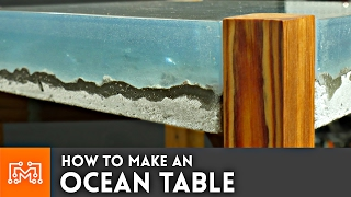Download How to make an Ocean Table // Concrete and Epoxy Resin Video