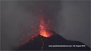Download Krakatau volcano in continous eruption, 5th August 2018 - 4K Resolution Video