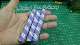 Download 114) DIY - Tutorial || Cara mudah dan cepat membuat rolledstick pita || amplop lebaran Video