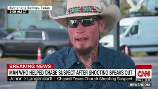 Download Texas church shooting hero left his shoes, picked up a gun (entire CNN interview) Video