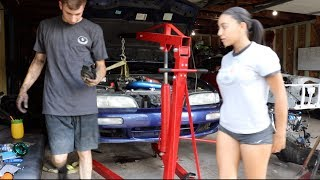 Download Mellinnas 240 Finally Gets Engine Mounts! She Can Drift!!! Video