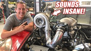 Download FIRST START UP w/Ruby's New GIANT Single Turbo (Dual Tractor Flaps = +500hp!) Video