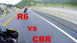 Download 600cc CANYON BATTLE (Honda CBR600RR vs Yamaha R6) Video