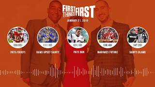 Download First Things First audio podcast(1.21.19) Cris Carter, Nick Wright, Jenna Wolfe | FIRST THINGS FIRST Video