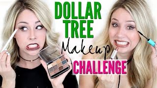 Download FULL FACE USING Dollar Tree Makeup CHALLENGE Video