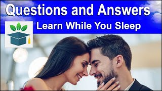 Download English Conversation ★ Sleep Learning ★ Common Questions and Answers (Subtitles) Video