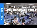 Download Inside Phuket Airport - Departure from Phuket Airport - check-in to plane boarding - Thailand Video