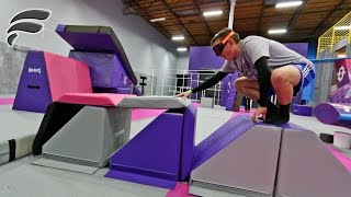 Download DRUNK GOGGLES TRAMPOLINE PARK OBSTACLE COURSE Video