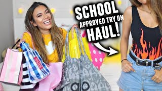 Download BACK TO SCHOOL APPROVED CLOTHING HAUL 2017! Try On📝🛍️ Video