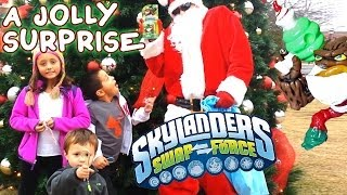 Download Santa Surprises Kids w/ Skylanders Swap Force Jolly Bumble Blast Christmas Variant Video
