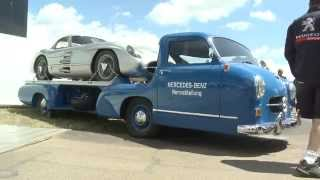 Download Legendary Mercedes-Benz Grand Prix Transporter and 300SL Coupe Video