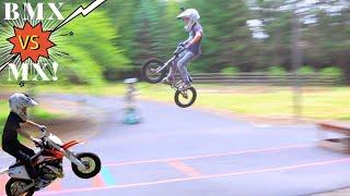 Download BMX vs MX Long Jump Challenge!!! Video