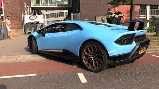 Download Baby Blue Lamborghini Huracán Performante - Start, Revs, Acceleration! Video