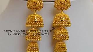 Download LATEST designer gold jhumkas earrings Video