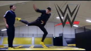 Download WWE MOVES AT THE TRAMPOLINE PARK Video