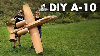 Download Flying 8-Foot A-10 Warthog made from Dollar Store Foamboard Video