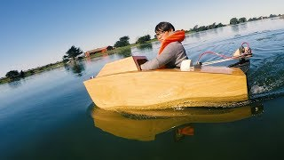 Download Testing a Laser-Cut Mini Boat! Video