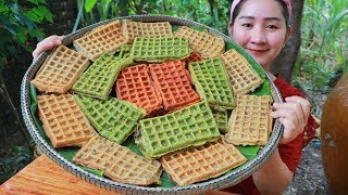 Download Yummy Waffles Cake Cooking - Waffles Cake - Cooking With Sros Video