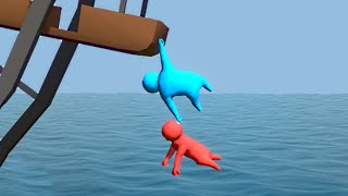 Download HANGING FROM A LEDGE! (Gang Beasts Funny Moments) Video