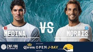 Download Gabriel Medina vs. Frederico Morais - Semifinals, Heat 1 - Corona Open J-Bay 2017 Video