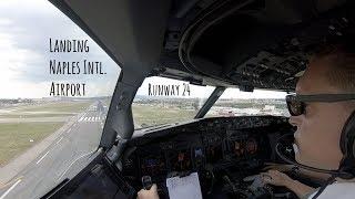 Download Approach & landing runway 24 Naples Intl. Airport (LIRN NAP) Video