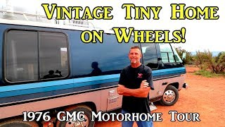Download Vintage Tiny Home on Wheels - 1976 GMC Motorhome Tour Video