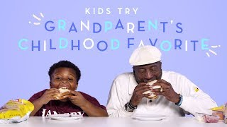 Download Kids Try Their Grandparent's Childhood Favorite Food | Kids Try | HiHo Kids Video