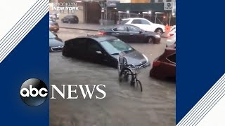 Download New York City streets underwater after storm hits Video
