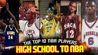 Download The 10 BEST NBA PLAYERS DRAFTED STRAIGHT Out Of HIGH SCHOOL! Video