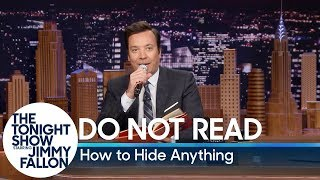 Download Do Not Read: How to Hide Anything Video